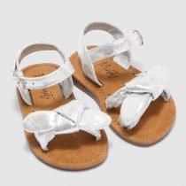 ΠΕΔΙΛΑ - GIRLS SILVER METALLIC SANDAL FOOTWEAR