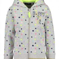 ZAKETA - GIRLS SWEAT JACKET DOTS ORGANIC COTTON