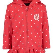 ZAKETA - MINI GIRL SWEAT JACKET DOTS RED ORGANIC COTTON